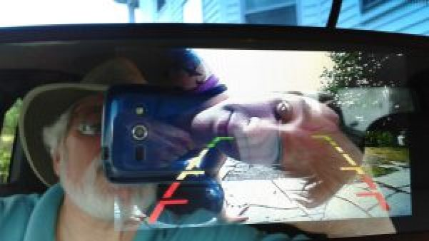 Lexi in rearview camera