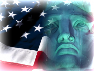 Crying Lady Liberty