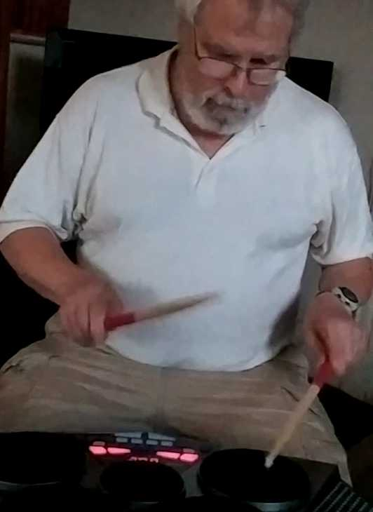 Drumming with Jeff