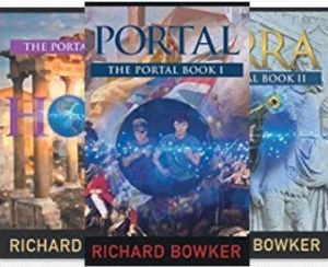 Covers for the Portal Trilogy by Richard Bowker