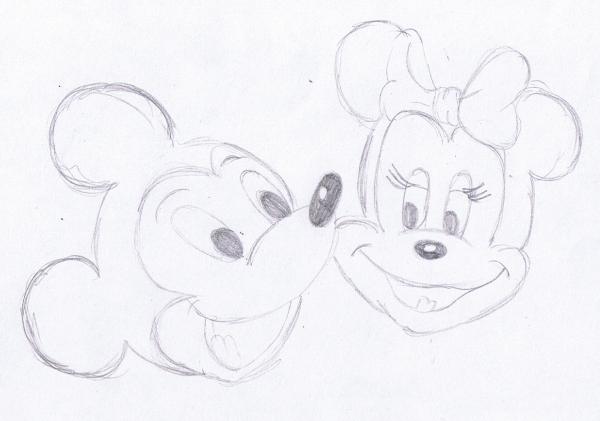 Con Dibujos Lapiz Mickey Mouse