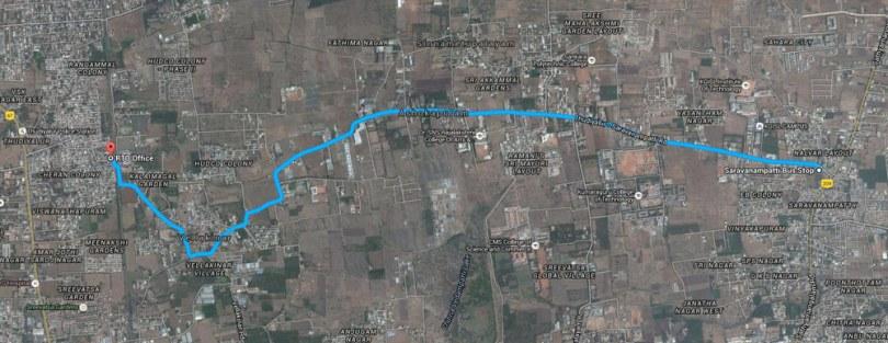 Coimbatore map