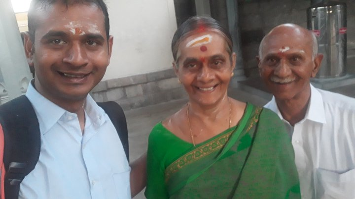 With Amma and Appa in Sivan Malai