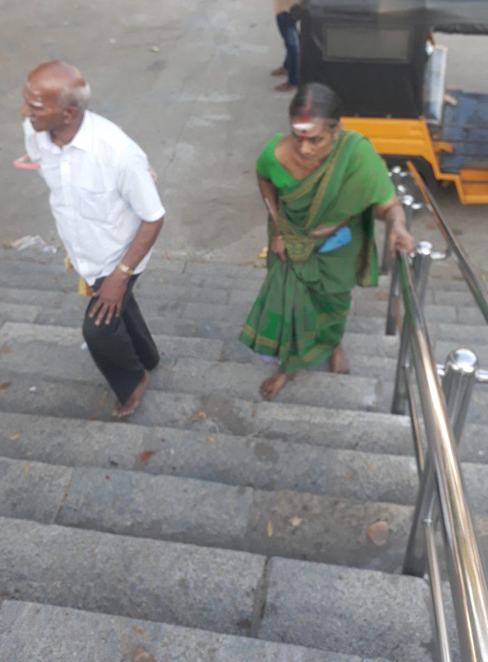 Amma walking to Sivan Malai Murugan temple