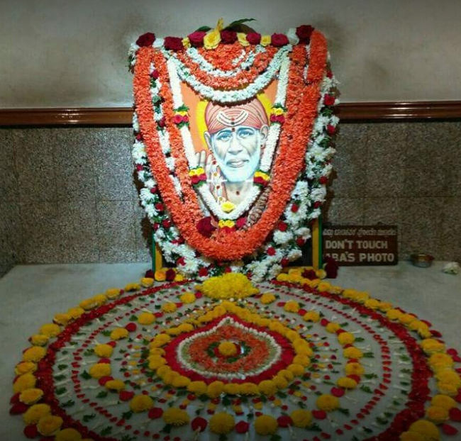 Shirdi Saibaba painting in Malleswaram Saibaba temple