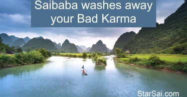 Saibaba washes away Bad Karma