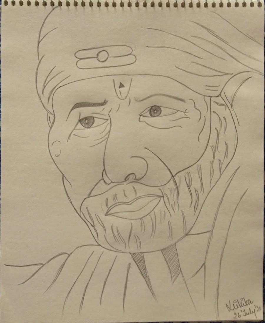 Shirdi Sai Baba Sketch
