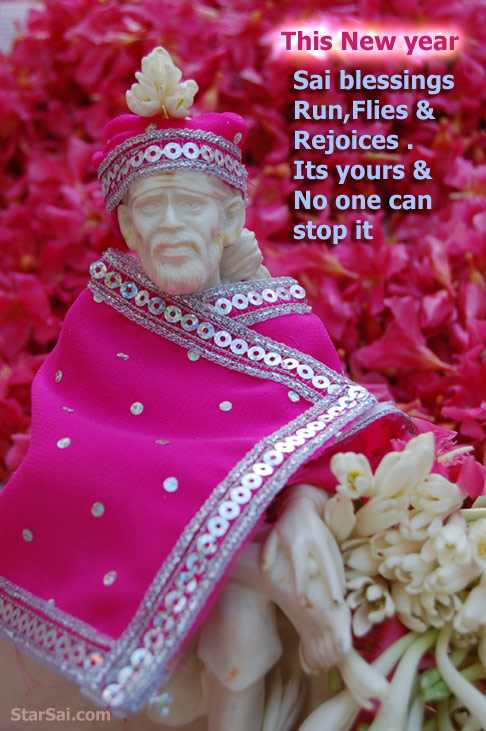 My blessings will reach you like garland of flowers - Saibaba of shirdi