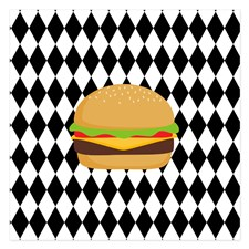 hamburger_on_black_and_white_diamonds_invitations