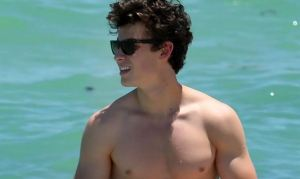 Shawn Mendes Hits the Beach Shirtless in Miami