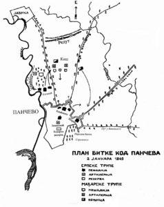 Косанићев план битке за Панчево 1849.
