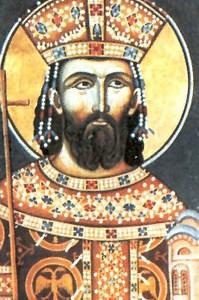 Светиња - Цар Лазар ( реска у манастиру Раваница - 1380 )
