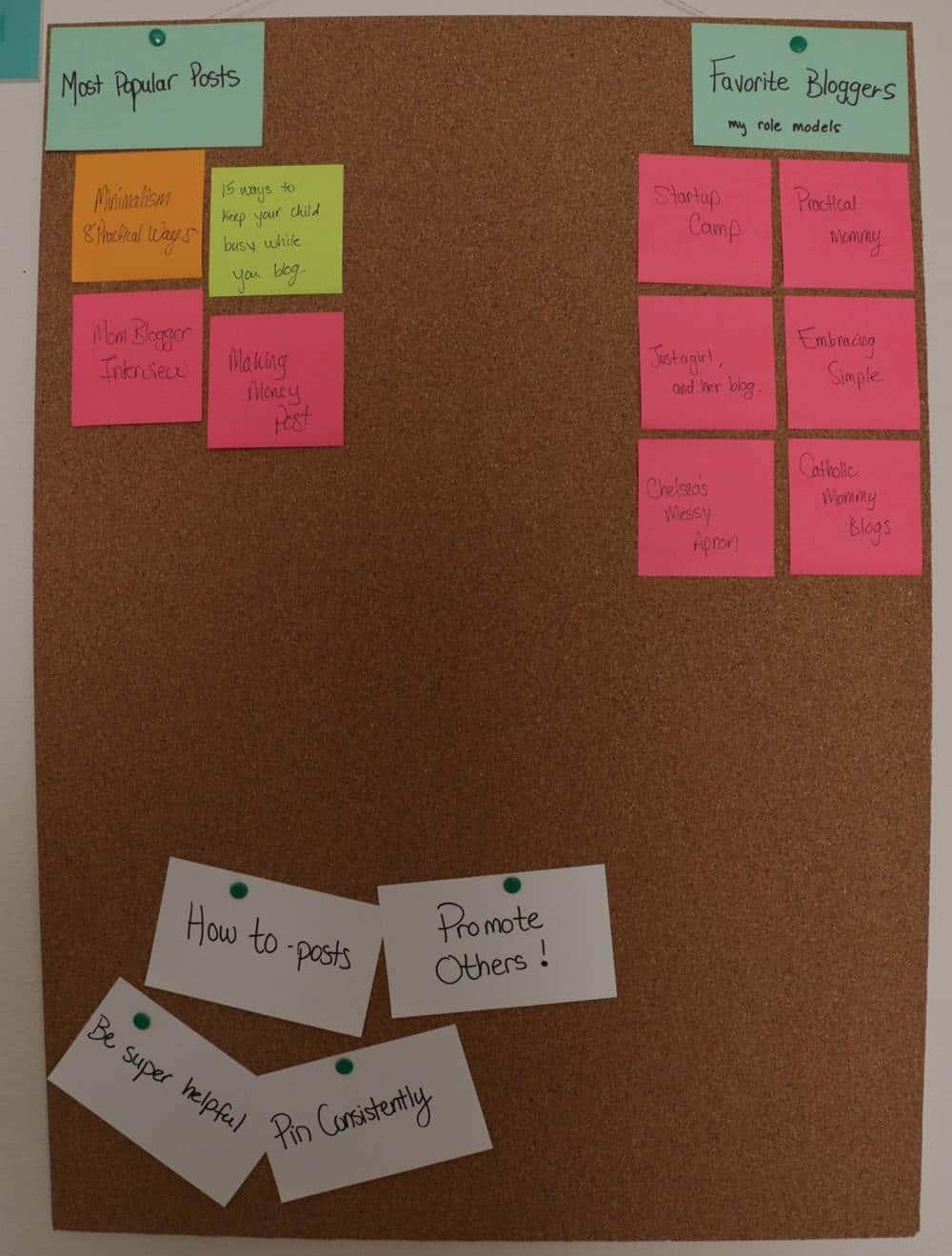Blog Vision Board