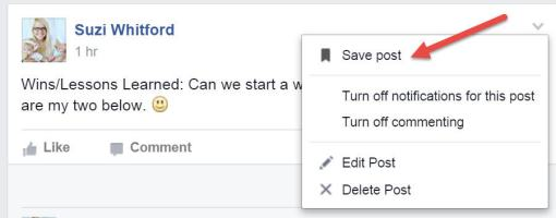 fb how to save post