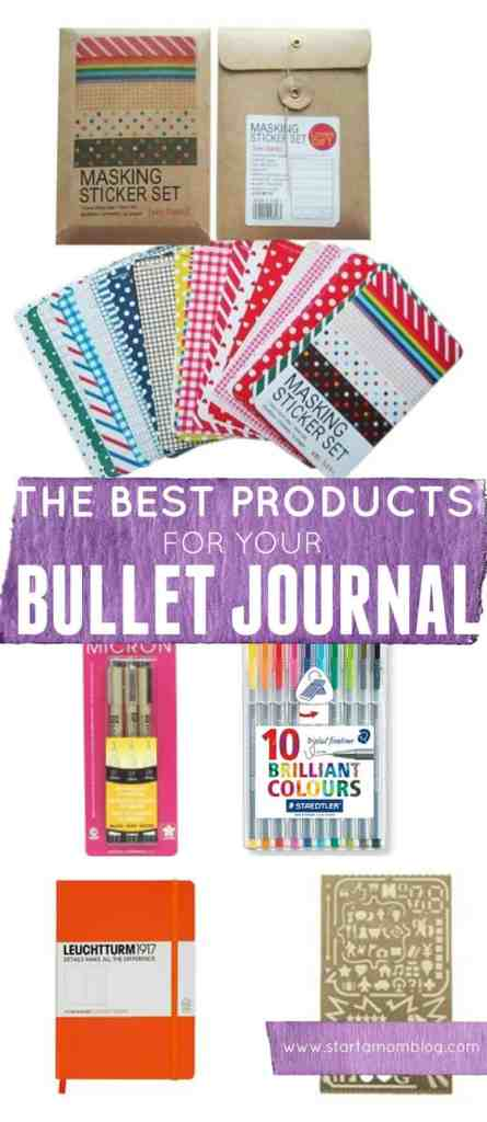 The best products for your bullet journal. I love these items!