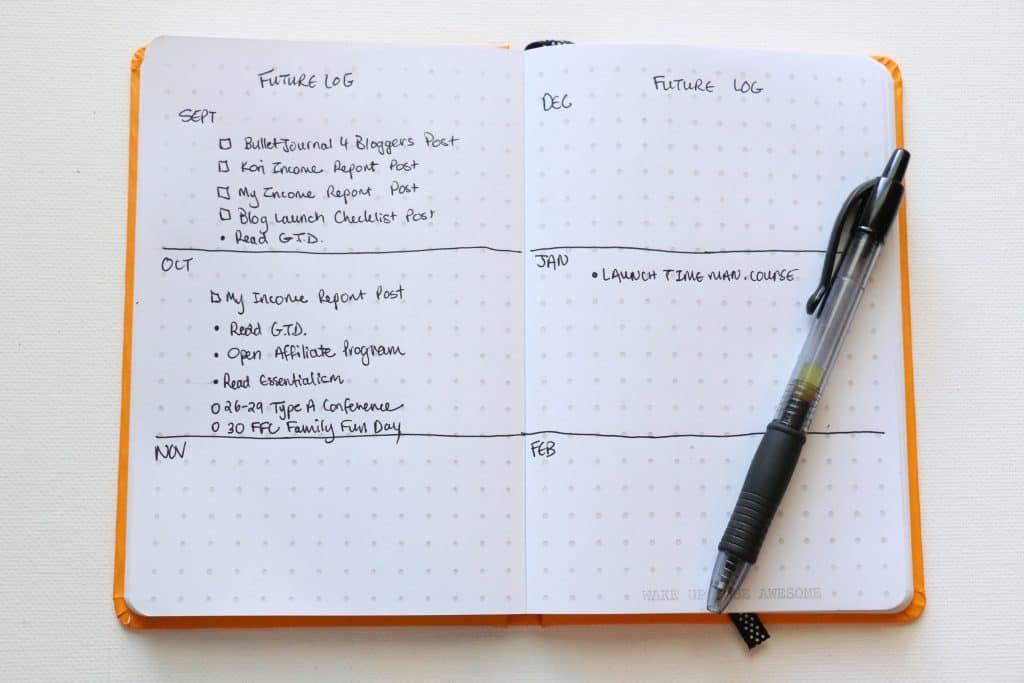 Bullet Journal for Bloggers and Moms