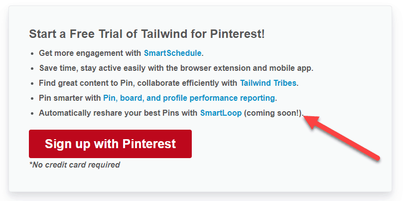 tailwind smart loop new feature pinterest