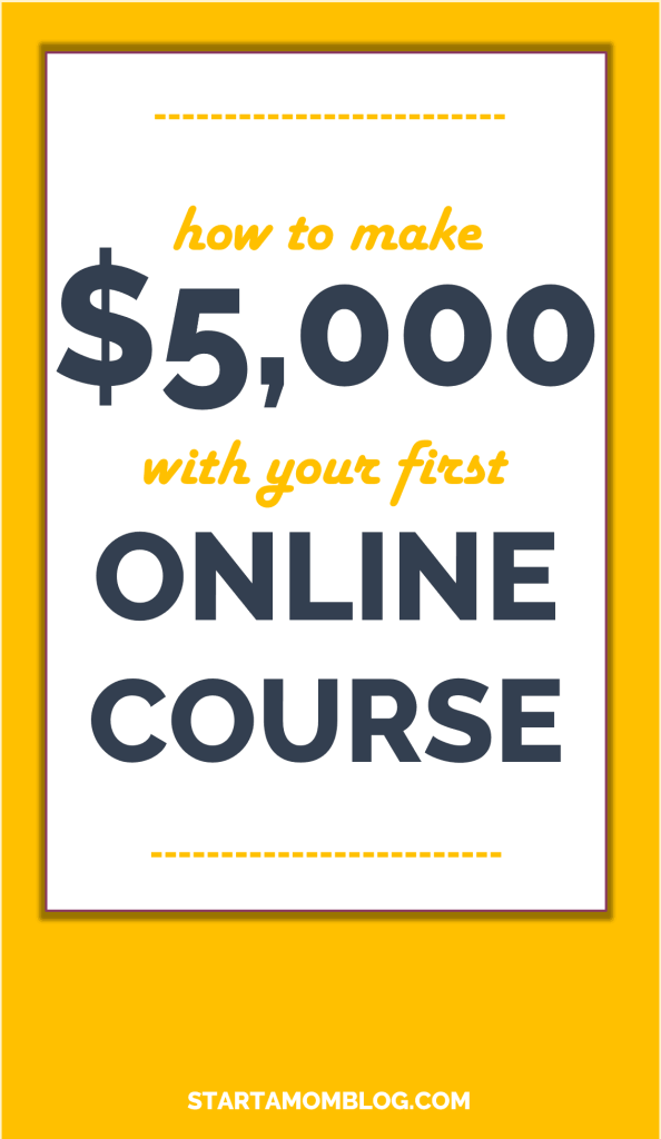 How to make money with an online course as a busy parent. Even your first course.