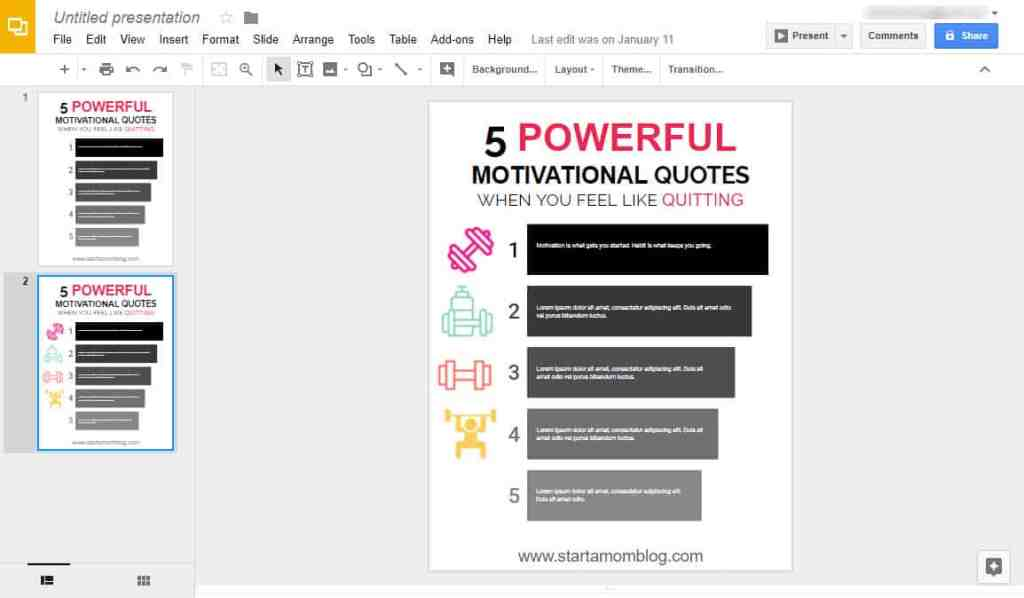 How to create printables using Google Slides