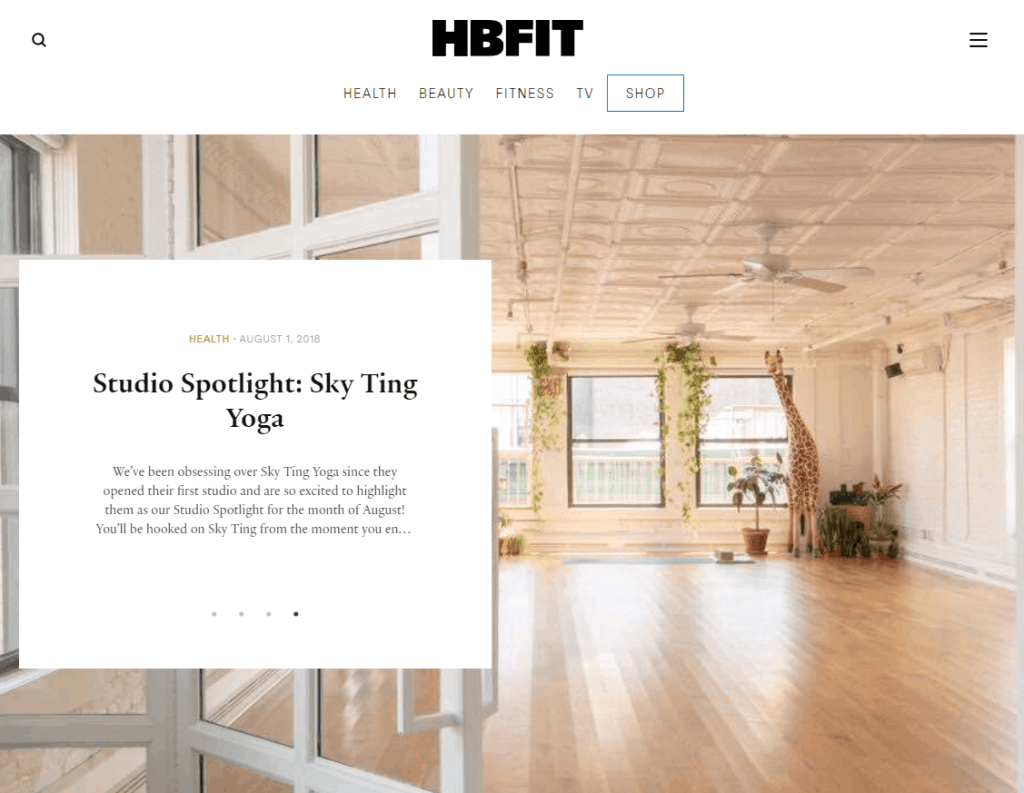 what is a lifestyle blog - example hbfit