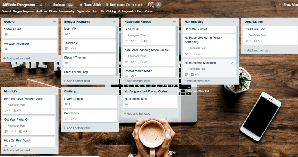 Trello-Boards-Bloggers-Affiliate-Programs
