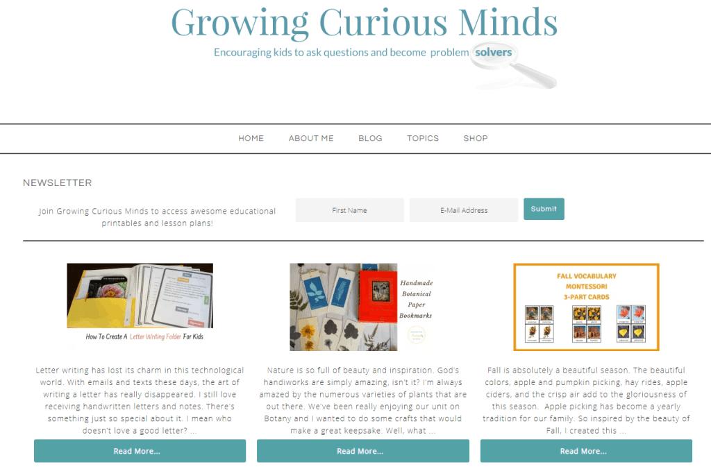 growing curious minds