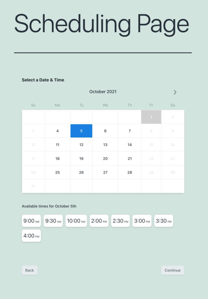 View scheduling calendar for WordPress
