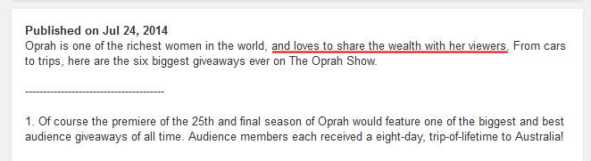 oprah mainstream media brainwashing news tv
