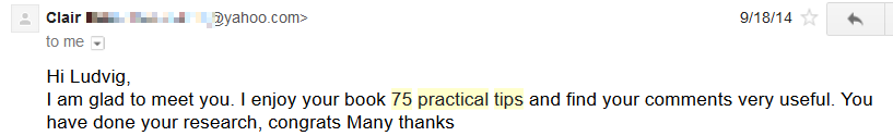 clair 75 practical tips