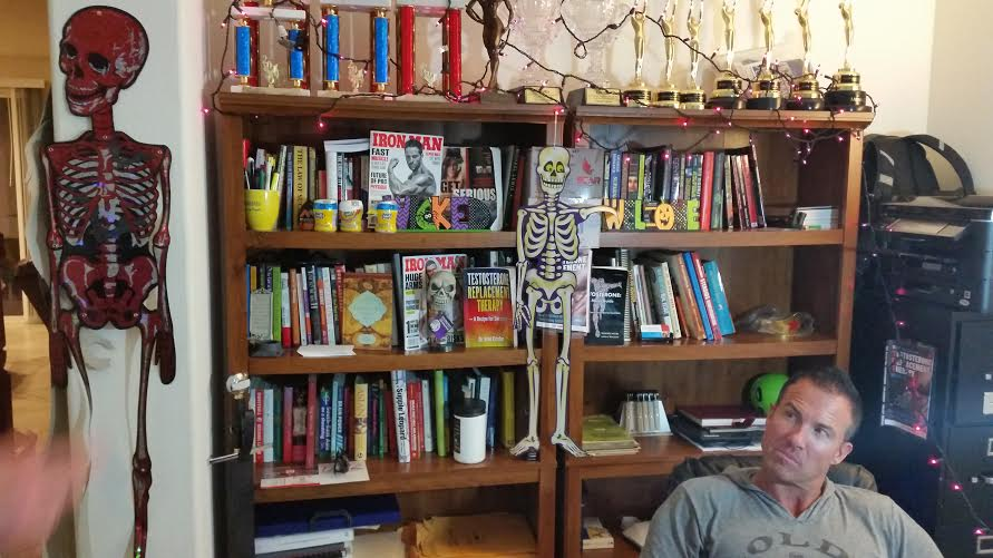 Jay Campbell and bookshelf