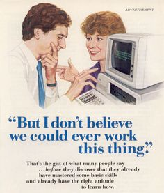 early IBM ad do it different and profit from contrast