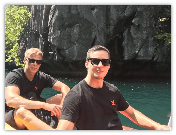 me and oskar kayaking in El Nido