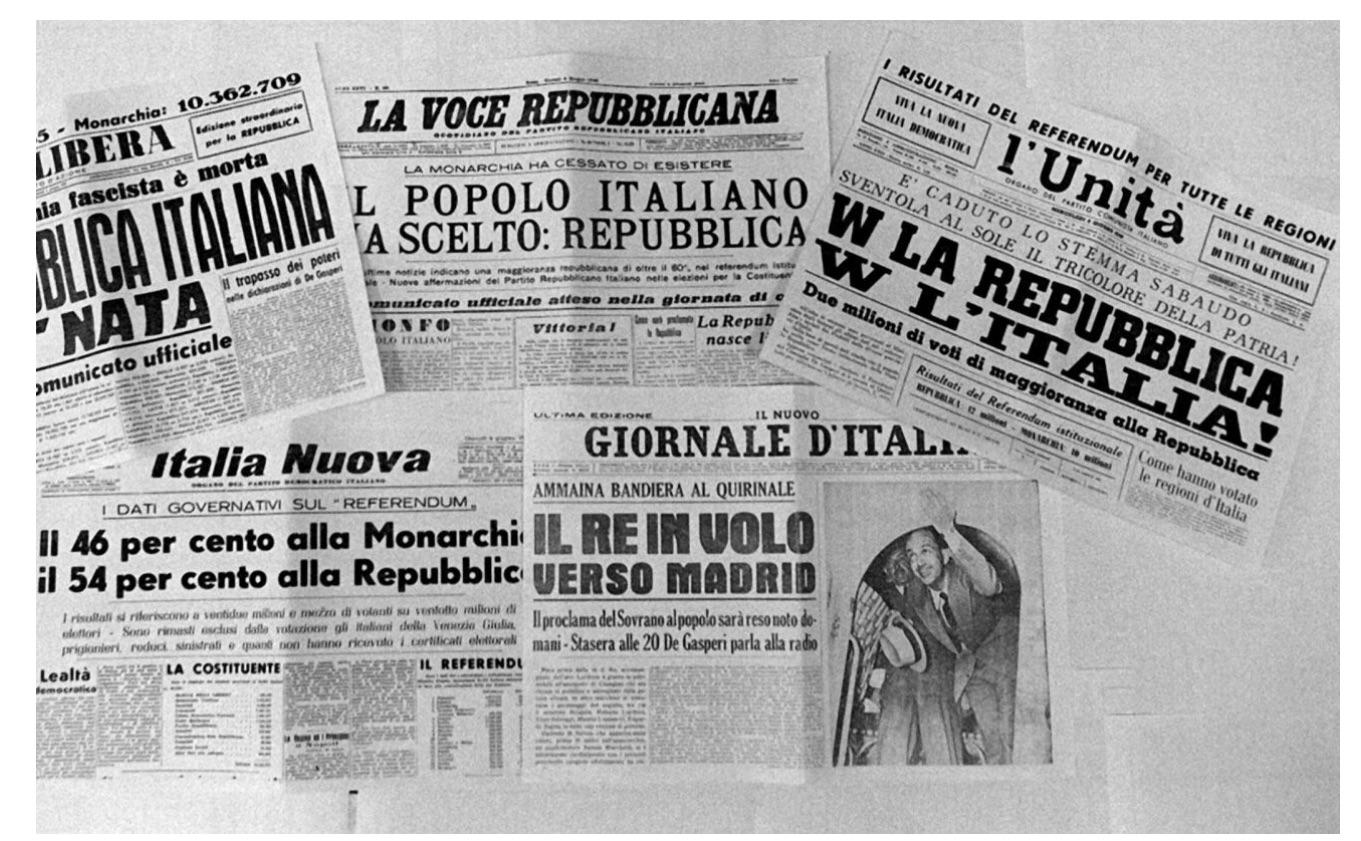 共和國並沒有隨著人群的歡呼而進入意大利的歷史