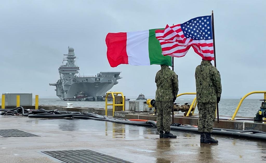 F-35,Nave Cavour在美國正在做什麼