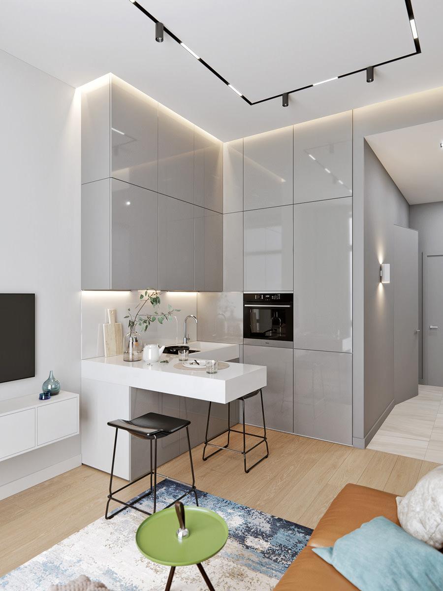 cucina a vista e spazi aperti. 50 Idee Cucine Piccole Moderne Con Isola Ad U Open Space Arredare Cucina Piccola Start Preventivi