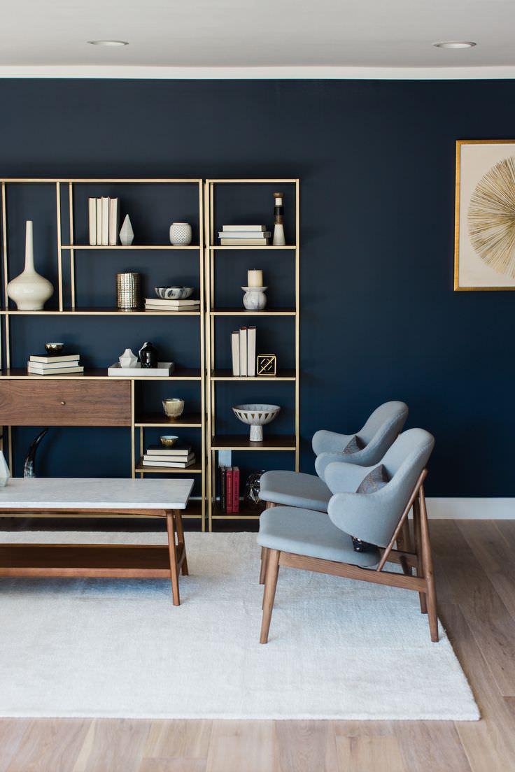 Colore pareti soggiorno scure e un arredamento stile contemporaneo. Colore Pareti Soggiorno Cambiare Stile Senza Spendere Una Fortuna Idee Colori Parete Salotto Moderno Start Preventivi