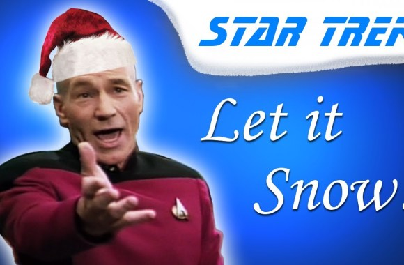 "Captain Picard sings ""Let it Snow!"""