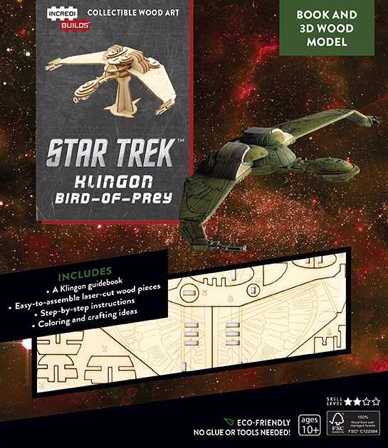 IncrediBuilds: Star Trek: Klingon Bird of Prey Book and 3D Wood Model Review by Treksphere.com