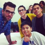 """ZacharyQuinto is a gentleman and a scholar_ He wouldn't swear in front of our little brother_ Thx for coming Zach"""