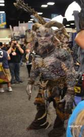 Demon on the loose in the Exhibit Hall! Photo from Heavy.com