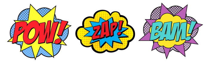 pow-zap-bam superhero marketing Start Small Go Big small business