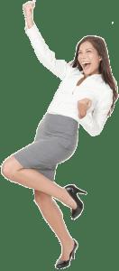 happy business girl website designer