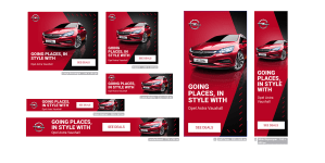 digital ad example car red auto