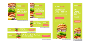 digital ad example lucky 7 food restaurant colorful simple easy hire
