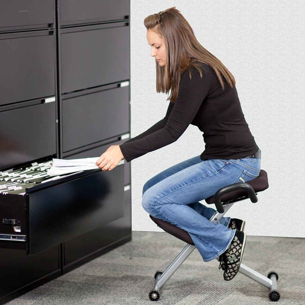Kneeling Chairs Are Only Used When Your Desk Is At Sitting Height, Not  Standing Height.