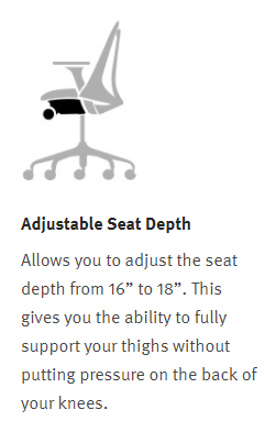 Herman Miller Sayl - Adjustable Seat Depth