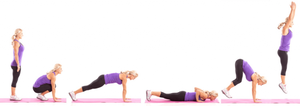 Burpees - Exercises that cause back pain