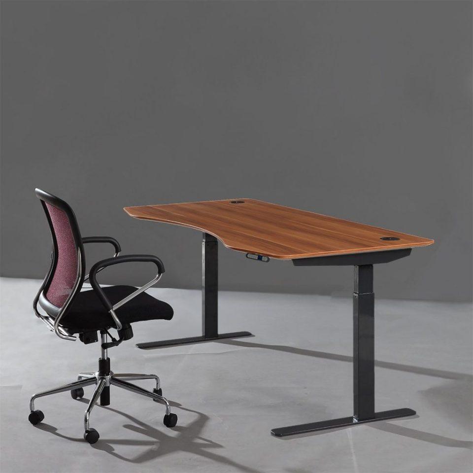 ApexDesk Elite Standing Desk - Red Apple Top With Black Frame