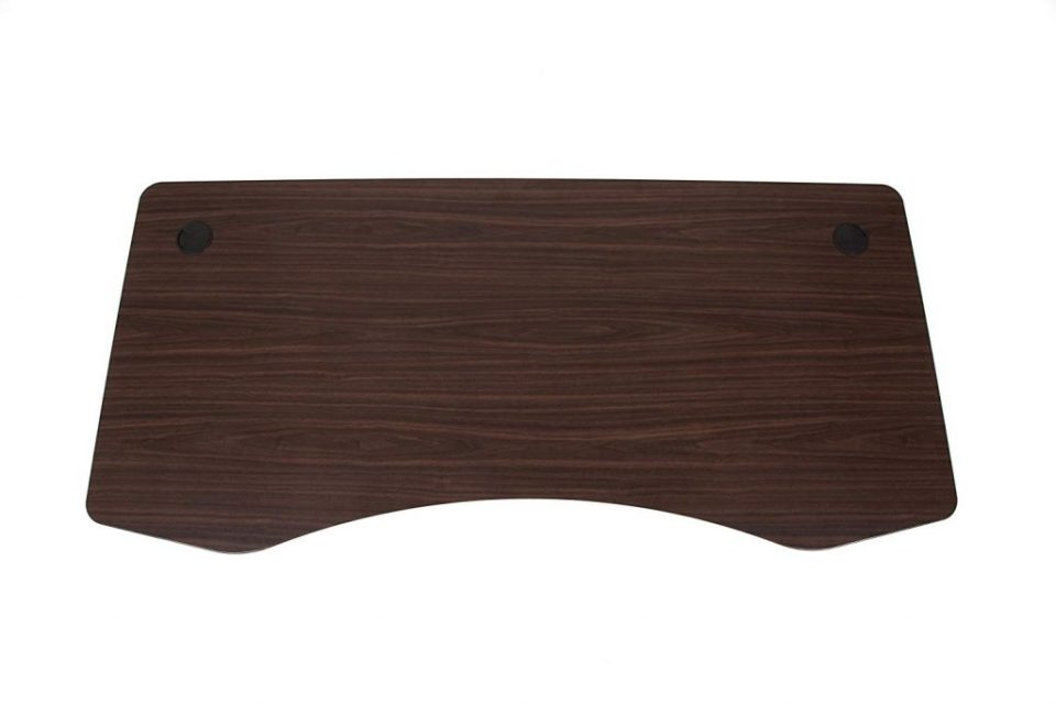 ApexDesk Elite Standing Desk - Walnut Top Detail
