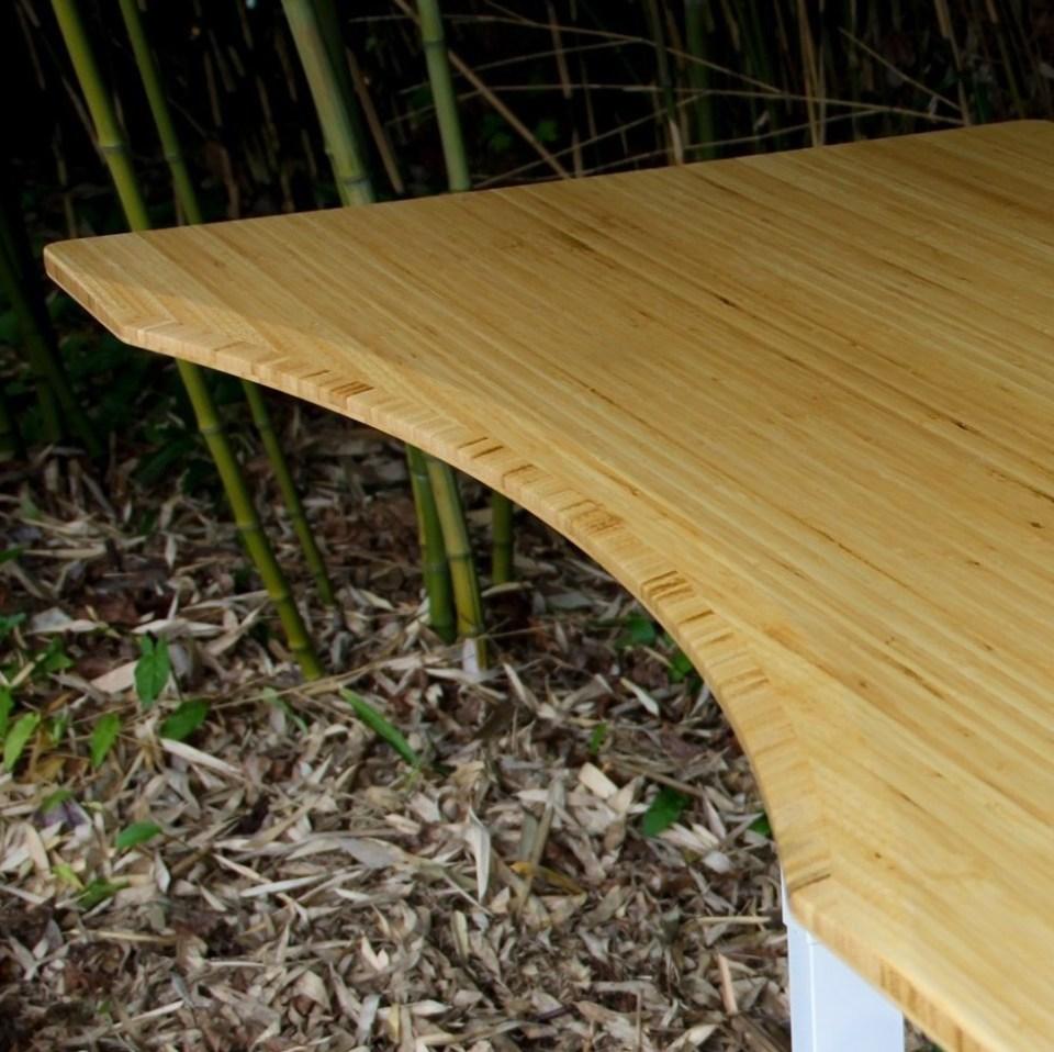 Fully Jarvis Standing Desk - Bamboo Contour Desktop Detail